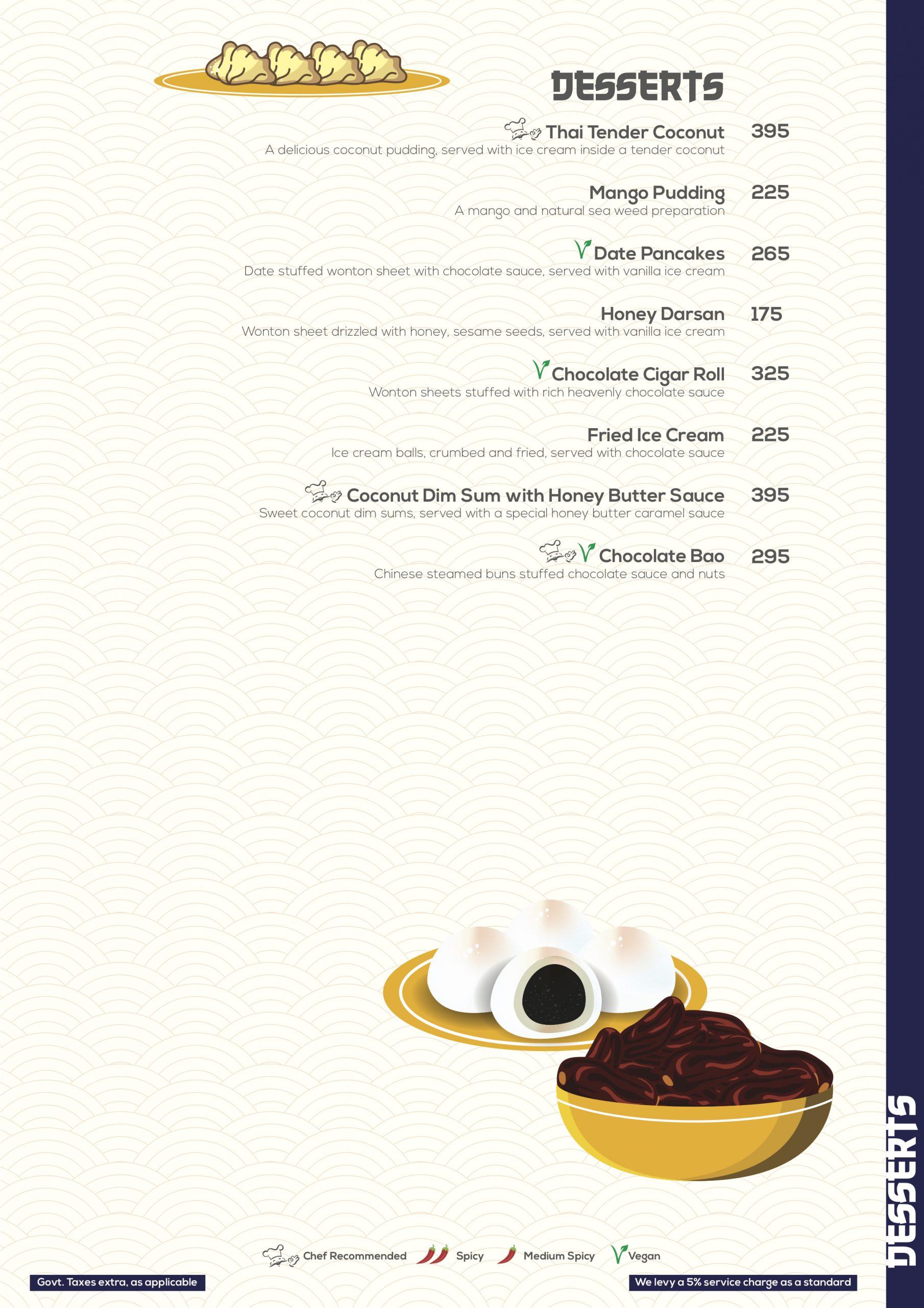 Desserts - The Flaming Bowl Menu